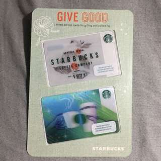 🇵🇭 Starbucks Cards Bundle Holiday Woodmark and Cheering Cups