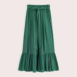 Pazzo 荷葉造型綁帶長裙