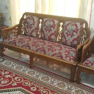 1 set sofa + cleopatra(3+3+1 cleoptra)