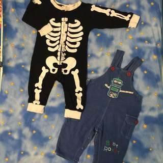 🖤Baby Skeleton Jumpsuit & Robot Overall