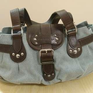Longchamp Denim and Leather Shoulder bag