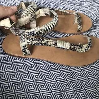 Kurt Geiger Snakeskin gladiator Sandal size 8