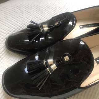 Zara Tassel Loafers size 8