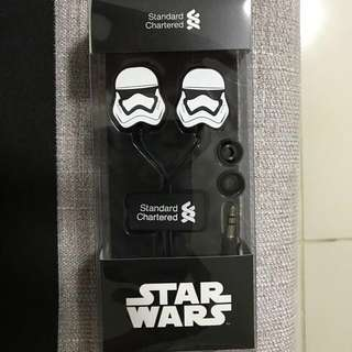 Original and New - Storm Troopers from Star Wars- Limited Edition Earphones