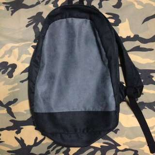 Peculiar and Odd basic backpack made with fine velvet cotton with canvas and satin interior splash proof (MarikinaCraftsmanship)_black
