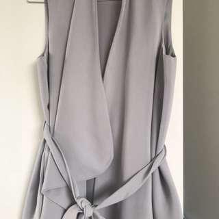 TOPSHOP crepe Grey Vest