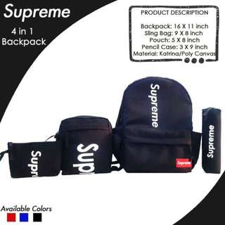 Supreme Backpack 4 in 1