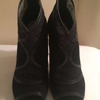 Karen Millen Black Booties