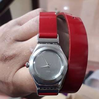 Swatch irony scarlet red