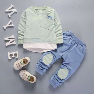 Outfit Boy Kids Shirt Tops+Pants Casual Set