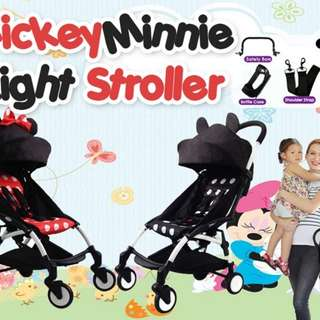 🔥#MickeyMinnie Light Stroller🔥