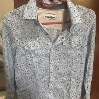 Ginger snaps shirt long sleeve snap button size 12