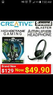 PC/MAC/XBOX360 Gaming Headset with Built-In Amplifier by SOUND BLASTER