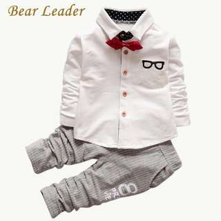 Long Sleeve Sports Suits Bow Tie Tshirts+Pants