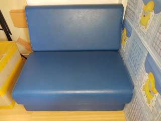 Quality Blue Single Sofa Bed
