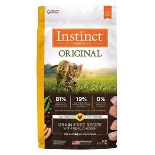 5磅 原點Instinct 「本能」原食無穀糧 雞肉無穀 全貓配方 貓飼料 貓乾糧 渴望 紐崔斯 紐頓