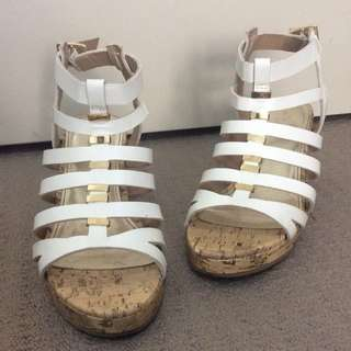 Low White Wedges