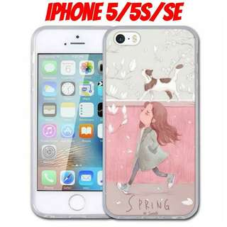 iPhone 5 Girl & Kitty Shockproof Case