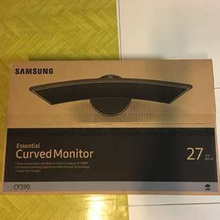 "SAMSUNG 27"" Essential Curved Monitor CF390 with immersive viewing experience C27F390FH only $260 (a)"