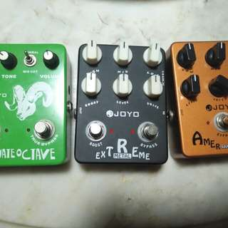 Joyo guitar pedals( octave fuzz, extreme metal and american pre amp)