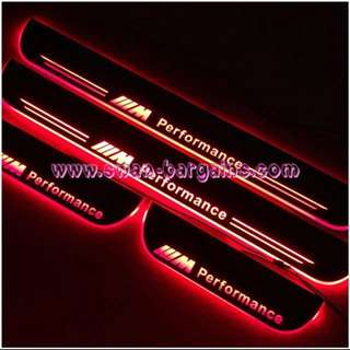 BMW 5-Series BMW M Performance Sweeping Glowing Animated Moving Running Illuminated LED Door Sill Scuff Plates