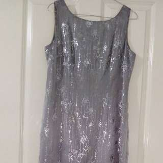Silver 'Table Eight' Dress