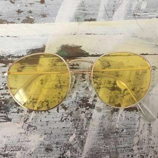 Retro Yellow Sunglasses