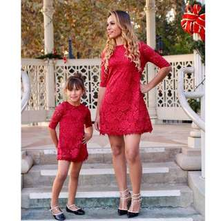 Mommy Daughter Matching Lace Dress