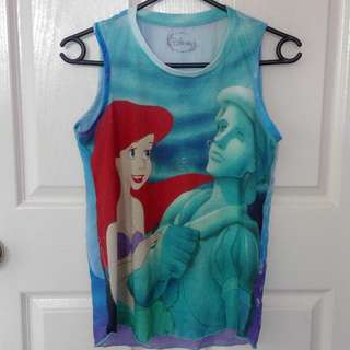 Disney Ariel tank top with mesh back