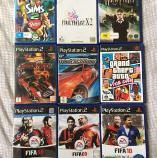 PS2 Games (Fifa, Final Fantasy, Grand Theft Auto Vice City, Sims... etc