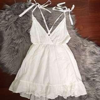 Morning Mist White Multiway Strap Dress Size 6