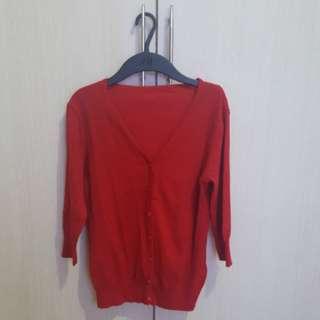 Cardigan merah