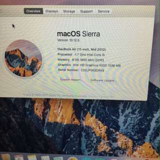 MacBook Air 11inch Mid2012