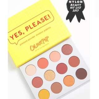 全新colourpop yes please palette