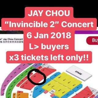 (x3) Jay Chou Invincible - CAT3