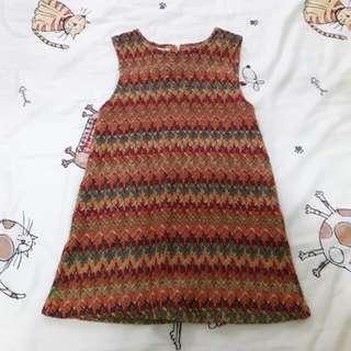 二手韓製薄針織女童洋裝