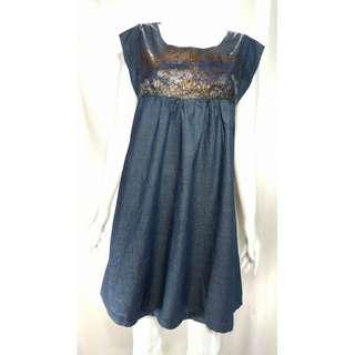 Soft denim dress for XL figure