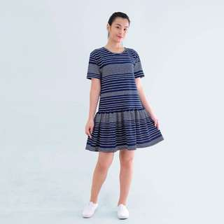 Blue Striped Birthday Dress