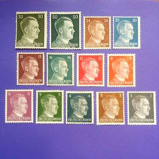13 pcs Deutsches Reich Germany Mint Stamps