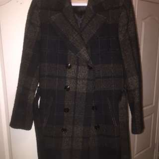 Double Breasted long coat from zara