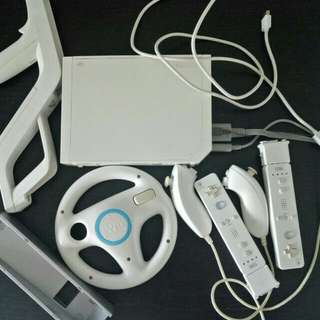 Wii Console with Wii games x2