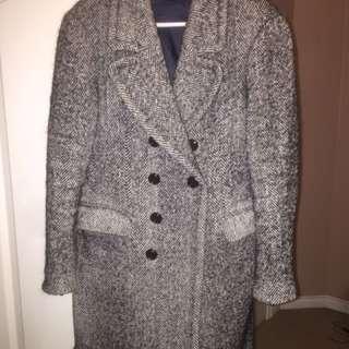 Double breasted grey coat from Zara