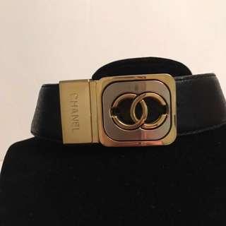 Authentic vintage Chanel gold CC belt buckle