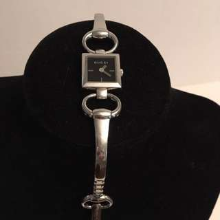 Authentic Gucci silver horse bit watch
