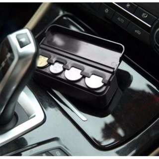 Car Coin Box Coin Holder Container Organizer