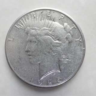 美國1925年自由女神肖像銀幣