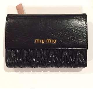 Authentic BNWT Black Miu Miu Wallet