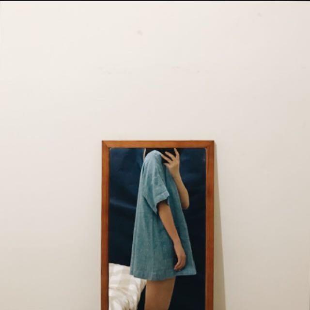100% 亞麻 洋裝 上衣 夏天 泰國設計師 手工製作