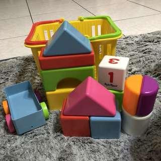 樂雅Toyroyal益智形狀積木疊疊樂(共14件組)