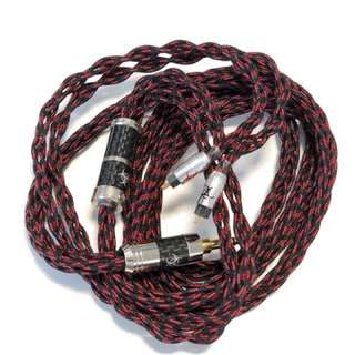 Toxic Cables Black Widow French Silk Copper Litz 2pin Cable